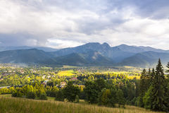 View of Zakopane city, Western Tatras, Poland Stock Photos
