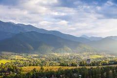 View of Zakopane city, Western Tatras, Poland Stock Image