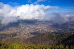 View for Zakopane from Sarnia Skala. Tatra mountains view from the top of Sarnia Skala peak, Poland Stock Photos