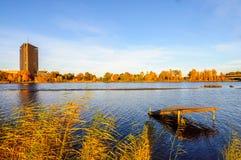 View at Zakusala island on river Daugava Stock Photo