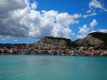 View of Zakynthos City Stock Photography