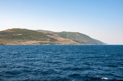 View of Zakynthos Island from the sea Royalty Free Stock Photos