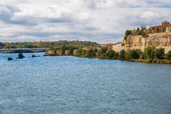 View of Zamora, the bank and the Douro river Royalty Free Stock Image