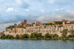 View of Zamora and the Duero River, Spain Stock Photo