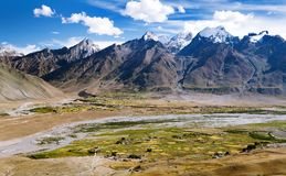 View of Zanskar valley around Padum village Stock Photography