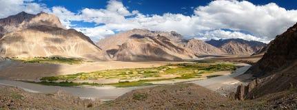 View from Zanskar valley - Zangla village - Ladakh Stock Photography