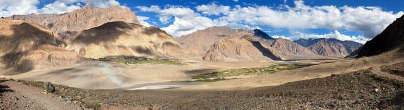 View from Zanskar valley - Zangla village - Ladakh Royalty Free Stock Image