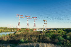 View of the Zaporozhye 3 masts Royalty Free Stock Images