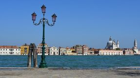View of Venice from accross the lagoon at Giudecca Royalty Free Stock Photo