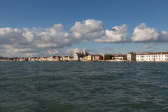 View of Zattere waterfront, Venice, Italy Stock Photography