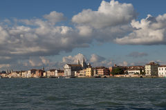 View of Zattere waterfront, Venice, Italy Royalty Free Stock Photo