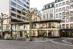 View of Zeil in early morning in Frankfurt Stock Photography
