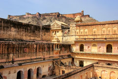 View of zenana in the fourth courtyard of Amber Fort, Rajasthan, Stock Photography