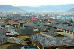 View of zhongdian or shangri-la. Old town Royalty Free Stock Photos