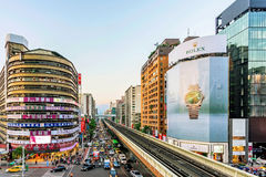 View from Zhongxiao Fuxing mrt station Royalty Free Stock Photography