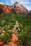 View on Zion canyon Royalty Free Stock Images