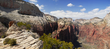 View of Zion Canyon from Angels Landing Royalty Free Stock Photos