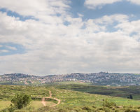 View from the Zippori Reservoir, Israel Stock Photo