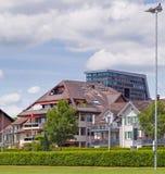 View in Zug city. Switzerland in summertime Stock Photos