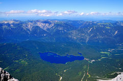 View from the Zugspitze Royalty Free Stock Photo