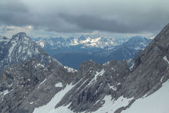 View from Zugspitze, Alps. Stock Image