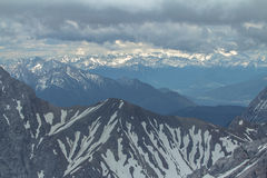 View from Zugspitze, Alps. Royalty Free Stock Photos