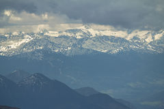 View from Zugspitze, Alps. Stock Photo