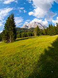 View of the Zugspitze from Austria Stock Images