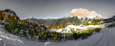 View of zugspitze Stock Photography