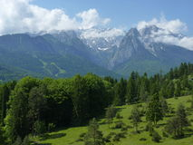 View of Zugspitze. Zugspitze, the highest mountain in Germany, Alpes, Bavaria royalty free stock photos