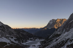View on Zugspitze Stock Photography