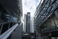 A view of the Zuidas in Amsterdam, The Netherlands. stock photos
