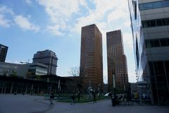 A view of the Zuidas in Amsterdam, The Netherlands. stock images