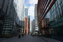 A view of the Zuidas in Amsterdam, The Netherlands. royalty free stock images