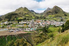 View of Zumbahua village Stock Photography