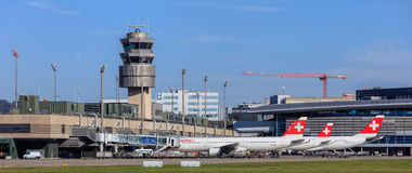 View in the Zurich Airport Royalty Free Stock Image