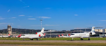 View in the Zurich Airport Royalty Free Stock Photography