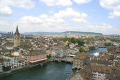 View of the Zurich downtown, Switzerland Royalty Free Stock Photos