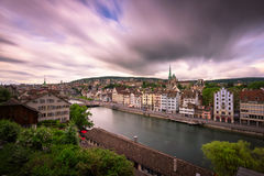 View of Zurich and Limmat River from Lindenhof Hill, Zurich, Swi Royalty Free Stock Image