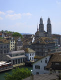 View of the Zurich from the lookout Royalty Free Stock Images