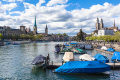 View of Zurich Old Town Stock Image