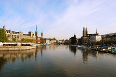 View of Zurich town center Stock Photos
