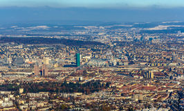 View of Zurich from Uetliberg mountain Royalty Free Stock Image