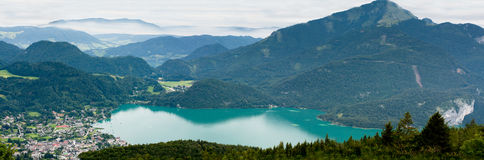 View from Zwolferhorn on Wolfgangsee Royalty Free Stock Photos