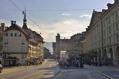 View of Zytglogge center from UNESCO Bern city. Switzerland Stock Photography
