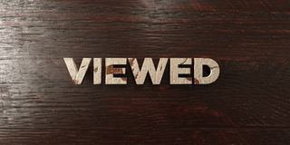 Viewed - grungy wooden headline on Maple  - 3D rendered royalty free stock image Stock Photography
