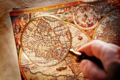Viewed through a magnifying glass Royalty Free Stock Image