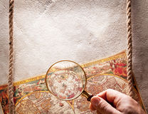 Viewed through a magnifying glass. Royalty Free Stock Image