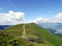Looking back along path to Catbells, Lake District