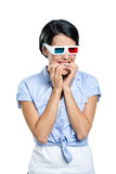 Viewer in 3D spectacles Royalty Free Stock Image
